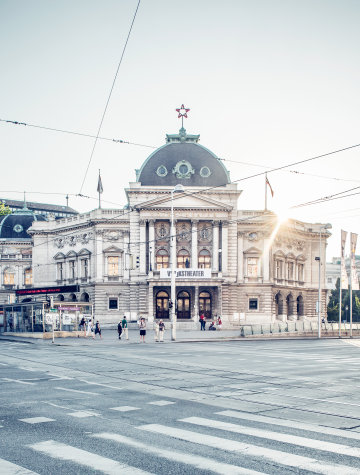 The building of the Wiener Volkstheater.