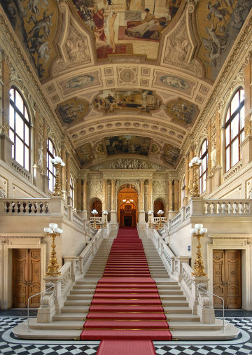 The grand staircase Burgtheater Vienna