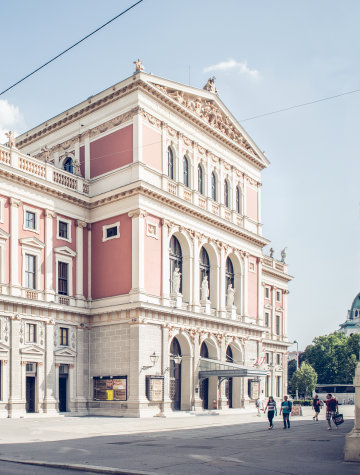 The Wiener Musikverein, one of the most established concert halls in Vienna.